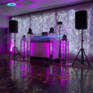 Full DJ Booth, DJ Truss and Sound System