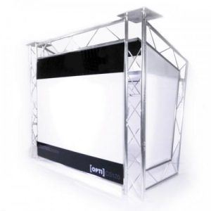 Opti Cs120 DJ Booth with uplighters
